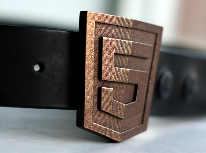 Buckle on a belt. (Belt not included!)