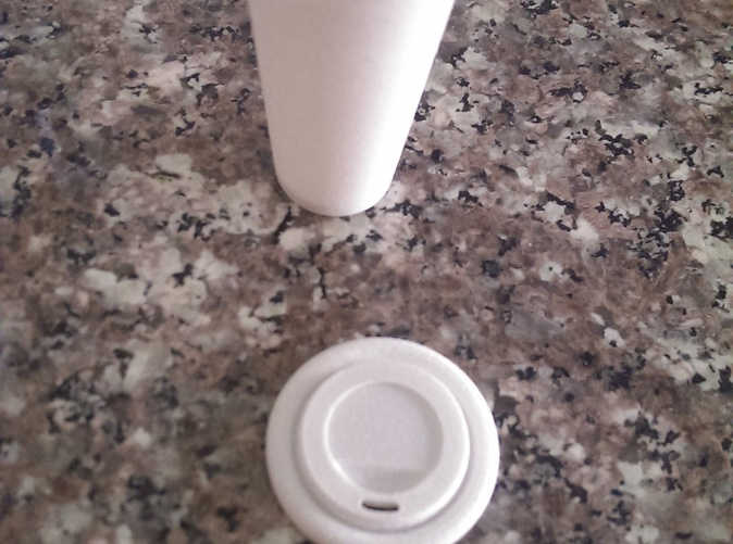 Cup with lid removed