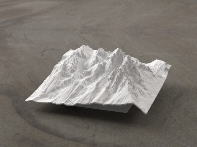 Radiance rendering of new model, viewed from the East