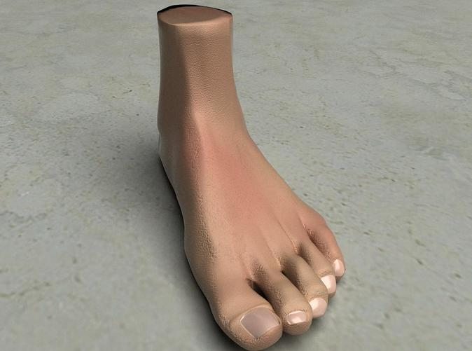 This is a rendering of the foot, not the actual product!