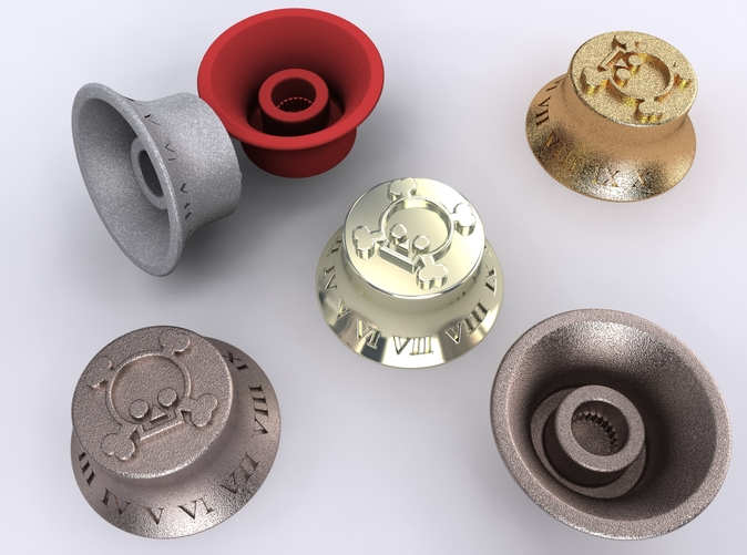 Alumide, Premium Silver, Stainless Steel, Gold Plated Matte & Coral Red Strong & Flexible renders