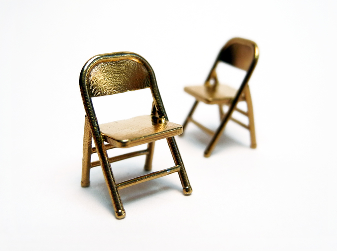 1 48 Miniature Pair of Folding Chairs 5KUJEUHMB by PrettySmallThings