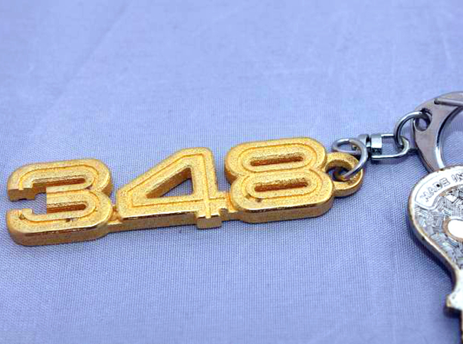 Keychain 348 Polished Gold Steel