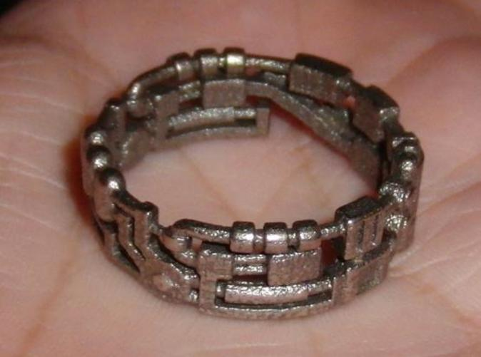 Mecha Ring in Steel