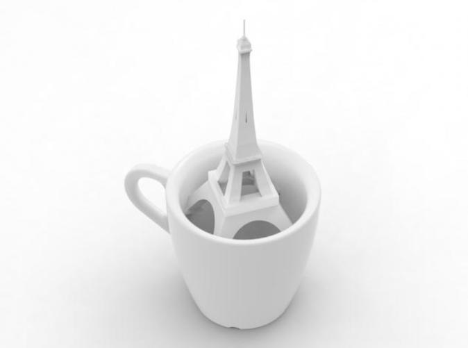 french coffee cup
