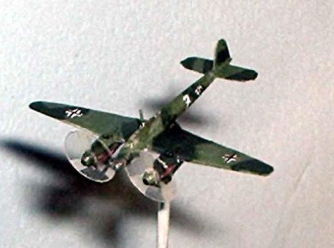 The model, painted, based and with propeller disks added.