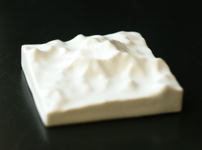 Photo of 3D print, viewed from the South