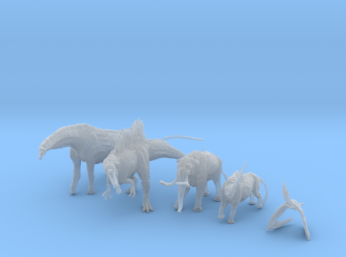 A pack of mini prehistoric creatures ©2012-2014 RareBreed