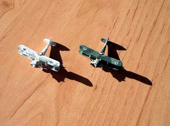 Two painted models