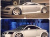 1/10 Touring Car MRR HR3 Wheel Set 3d printed Top photo of wheels spray painted. Bottom pic of my actual car that i designed the wheels after