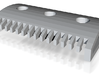 Haymarket: Comb - Railed 3d printed
