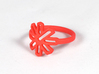 Pomegranate Blossom- Multiple Sizes 3d printed Coral Red Strong and Flexible