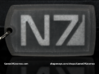 N7 Dog tag (Trapped Wax) 3d printed
