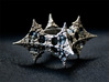 Dragon Fractal Ring 21mm 3d printed Patinated - Post work oxidizing, not as you get it, just to show what is possible!