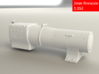 3700 City Class boiler, smokebox, firebox, 2mm FS 3d printed Front rendering
