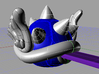 Blue Spiney Shell Mario Kart 3d printed Purple layer is my car key
