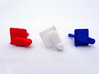 (X1) Pitch Control Lever 3d printed (X1) Pitch Control Lever colors (coral red, white, royal blue) impression