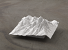 4'' Grand Tetons Terrain Model, Wyoming, USA 3d printed Radiance rendering of new model, viewed from the East