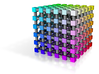 Web Safe Color Cube: 2 inch 3d printed