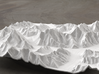 8''/20cm Baltoro Glacier and K2, WSF 3d printed Radiance rendering from the West, looking up the Baltoro to Gasherbrum IV
