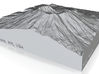 4'' Mt. St. Helens, Washington, USA, Sandstone 3d printed