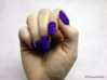 Cube Nails (Size 2) 3d printed Purple Strong and Flexible Polished