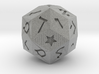 Hebrew 30-sided die 3d printed