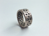 Plus Pattern Ring 3d printed Stainless Steel