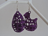 The Chicken or The Egg - Earrings 3d printed Violet Purple Strong & Flexible Polished