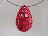 Egg before Chicken - Pendant 3d printed Hot Pink Strong & Flexible Polished