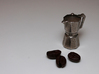Moka pot token 3d printed Stainless steel