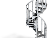 Spiral Staircase Ornament (1:36) 3d printed
