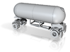 HO 1/87 LPG single-axle Pup/Calf, trailer 15 3d printed Please see photos of finished models.