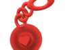 Bright Heart Key Chain 3d printed default look