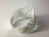 Snowflake Fractal Bracelet 3d printed White Strong & Flexible