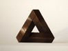 Impossible Triangle, Cubed & Compact 3d printed Matte Bronze Steel