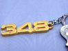 KEYCHAIN 348 LOGO 3d printed Keychain 348 Polished Gold Steel