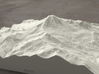 8'' Mt. Baker, Washington, USA, Sandstone 3d printed Radiance rendering of model data, viewed from the West