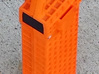 Surveying external battery LiPo Case 3d printed Dyed orange with included plates in
