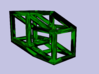 Hypercube 3d printed Simulated Glass Render (Green)