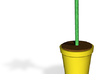 Daffodil Plant Model In Plant Pot 3d printed