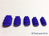 Deep Sea Nails: Size 3 3d printed Off Hand