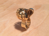 Pumpkin Ring Size 6 3d printed Gold polished