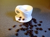 """Espresso Cup and Saucer Set: """"Open Handle"""" 3d printed Espresso Cup and Saucer"""