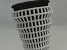 Wireframe Espresso Cup (Inner Ceramic Cup) 3d printed A render of the 2 parts.
