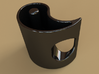 Yin-Yang Espresso Cup, clockwise variant 3d printed What it would look like if you ordered it in in black ceramic.