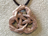 Borromean Rings pendant - Naked Geometry 3d printed Stainless steel