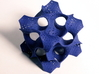Schoen's Gyroid (Small Version) 3d printed Gyroid in Blue Polished Strong and Flexible