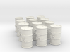 Power Grid Yellow Uranium Barrels, Set of 12 3d printed