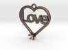 "Heart Pendant ""Love"" (Mount 4.28mm) 3d printed"
